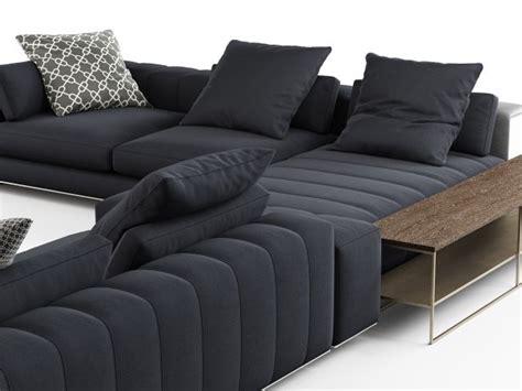 canapé sketchup freeman corner sofa system c modèle 3d minotti