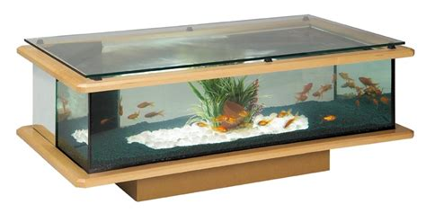 table basse aquarium verre mobilier design d 233 coration d int 233 rieur