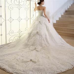 vestido de noiva picture more detailed picture about With plus size wedding dresses with long trains