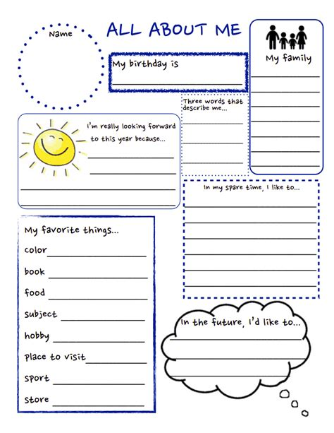 all about me pdf school stuff school worksheets