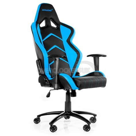 ak racing player gaming chair black blue ocuk