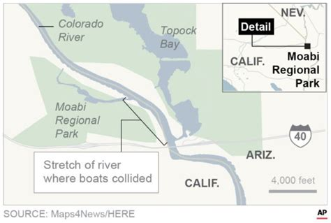 Boat Crash Update Colorado River by Of 1 Person Found After Boats Crash On Colorado River