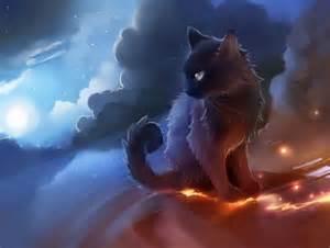 anime black cat anime cat black desert smoke anime zation