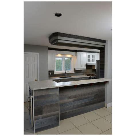 armoire cuisine rona planches murales style bois de grange rustik 8341017