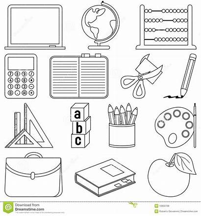 Coloring Supplies Colouring Worksheets Pages Icons Printable