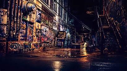 Urban 4k Night Street Wallpapers Graffiti Wall