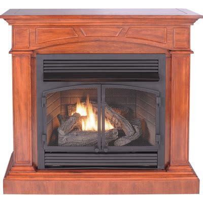 procom dual fuel vent  fireplace  corner