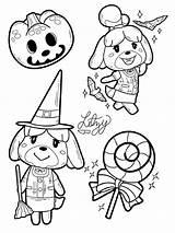 Coloring Crossing Animal Halloween Freebies Nerdnewssocial Nerd sketch template