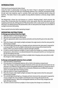 Solar Epower 2053 Manuals