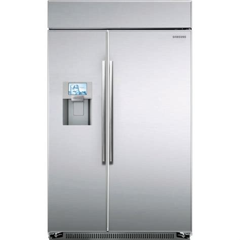 48 cabinet depth refrigerator rs27fdbtnsr samsung 48 quot counter depth bulit in side by