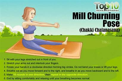 Churning Mill Yoga Belly Fat Poses Pose