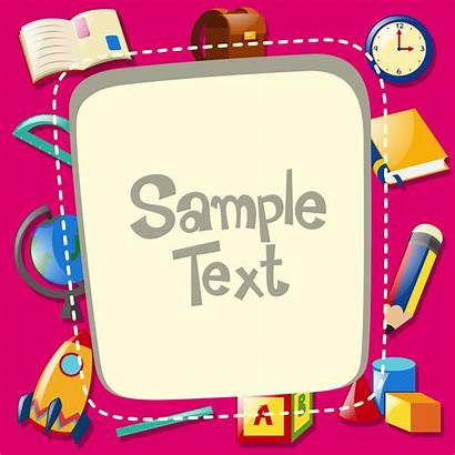 Border Template Background Items Vector Clipart Graphics