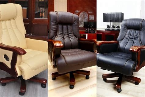 Poltrona Sedia Relax Direzionale Presidenziale In Pelle