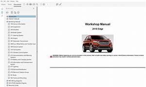 2016 Ford Edge Repair Manual