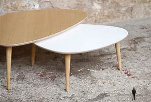Made Table Basse : table basse tripode gigogne made in france scandinave ~ Melissatoandfro.com Idées de Décoration
