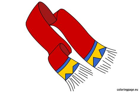 winter scarf coloring page