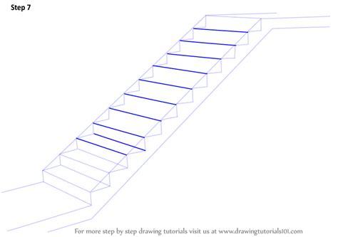 step  step   draw staircase drawingtutorialscom
