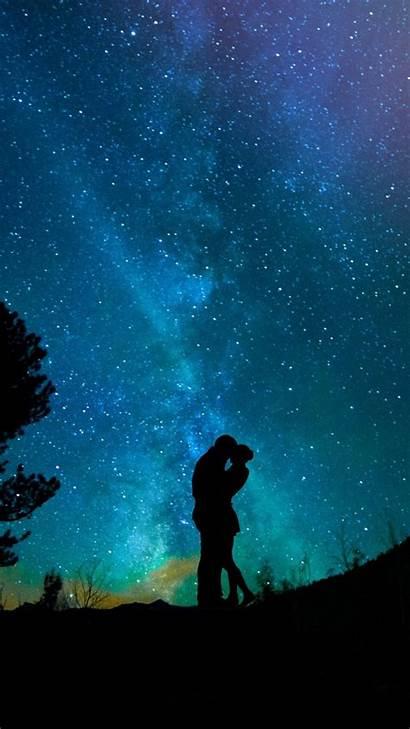 Couple Romantic Night Sky Stars Wallpapers 4k