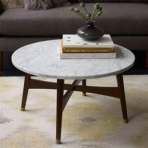 Table Basse Ronde Marbre : table basse ronde guide des mat riaux couleurs et mod les ~ Teatrodelosmanantiales.com Idées de Décoration