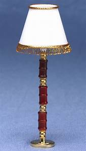 fringed shade floor lamp mary39s dollhouse miniature With floor lamp with fringed shade
