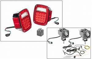 Quadratec Led Tail Light Kit  U0026 2 U0026quot  Cube Led With Wiring Harness For 1997 Jeep Wrangler Tj