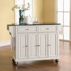 kitchen island casters shop crosley furniture 48 in l x 18 in w x 36 in h white kitchen island with casters at lowes