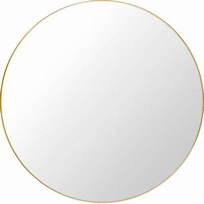 Mirror Round Gubi Wall Modern Mirrors Brass