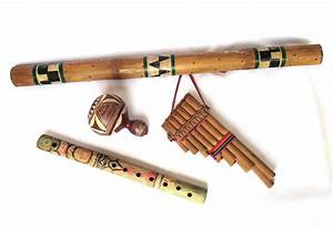 Native American Old Wooden Musical Instruments Rain Stick