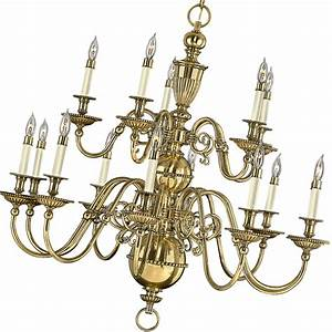 Traditional flemish brass chandelier
