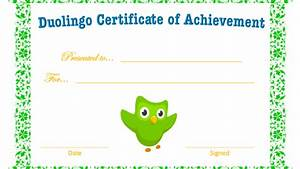 Free Certificates For Students Petición Duolingo To Receive Certificates In Duolingo
