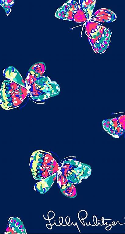 Butterfly Pulitzer Lilly Background Screen Lock Phone