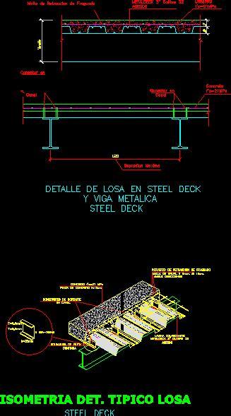 steel deck details  autocad cad   kb