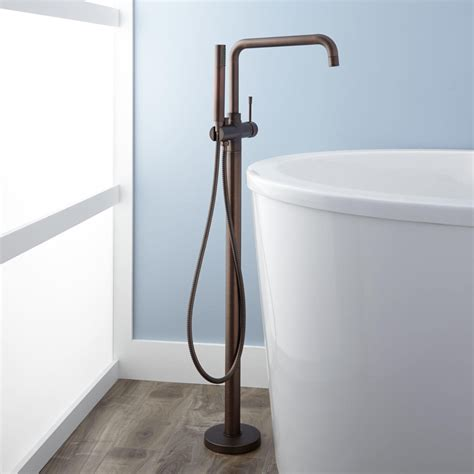 rubbed bronze faucets for freestanding tub humboldt thermostatic freestanding tub faucet bathroom