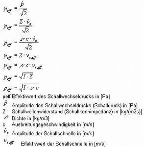 Schall Berechnen : berechnung des effektivwertes des schallwechseldruckes ~ Themetempest.com Abrechnung