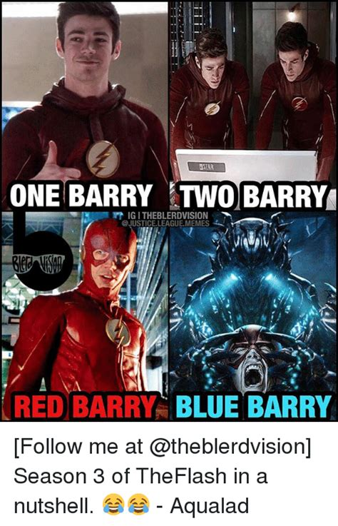 Justice League Meme - lstar one barry two barry igitheblerdvision league memes red barry blue barry follow me at