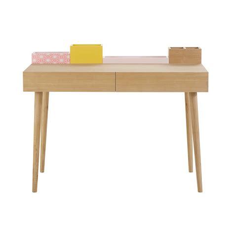 bureau en bois l 110 cm lea maisons du monde