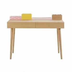 Schreibtisch 90 Cm : schreibtisch aus holz l 110 cm lea maisons du monde ~ Whattoseeinmadrid.com Haus und Dekorationen