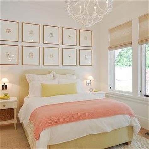 pink and yellow bedroom interior design inspiration photos by walter powell architect 16698 | m yellow and pink bedroom design butter yellow bed pink herringbone throw