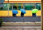 Rainy day in Karlsruhe, Baden-Württemberg, Southwestern ...