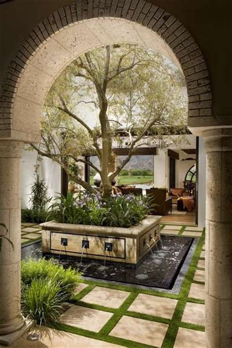 interior courtyard classic spanish revival south coast architects outdoor living