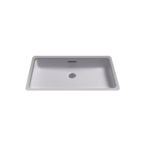 Square Bathroom Sinks Home Depot by Toto 21 In Rectangular Undermount Bathroom Sink With