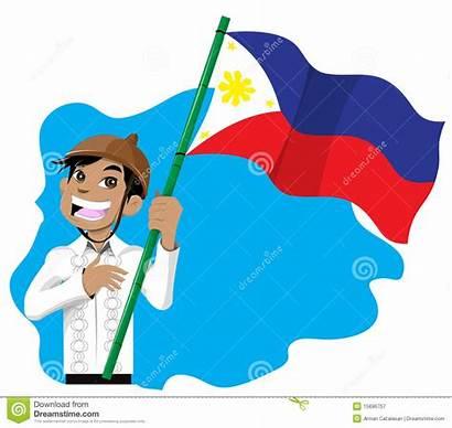 Flag Philippines Filipino Clipart Boy Holding Happy