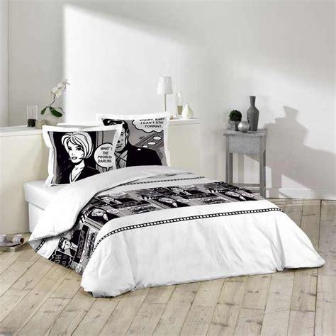 parure de lit personnalise parure de lit 3 pi 232 ces 220x240cm bd noir
