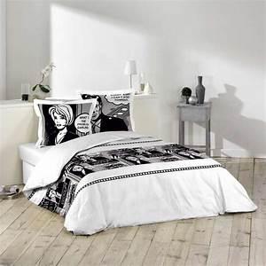 Parure De Lit Marbre : parure de lit 3 pi ces 220x240cm bd noir ~ Melissatoandfro.com Idées de Décoration