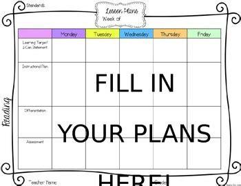 editable lesson plan effectiveness system tkes editable lesson plan template