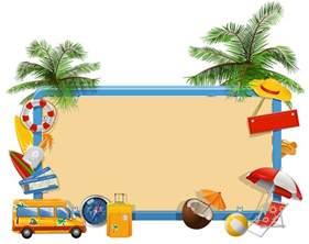 Summer Vacation Clip Art Borders