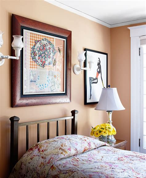 Bedroom Painted in Farrow & Ball's Dutch Pink   Interiors
