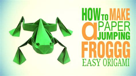 easy origami jumping frog cool origami easy tutorial