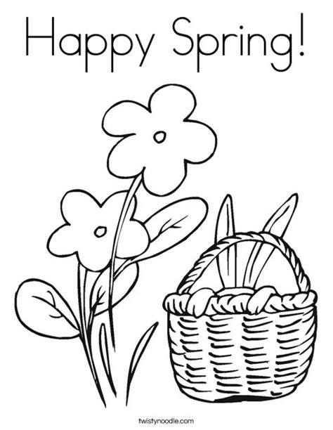 Happy Spring Coloring Page - Twisty Noodle