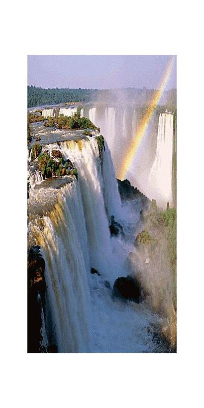 Waterfalls Waterfall Cataratas Visit Rainbow Argentina Iguazu
